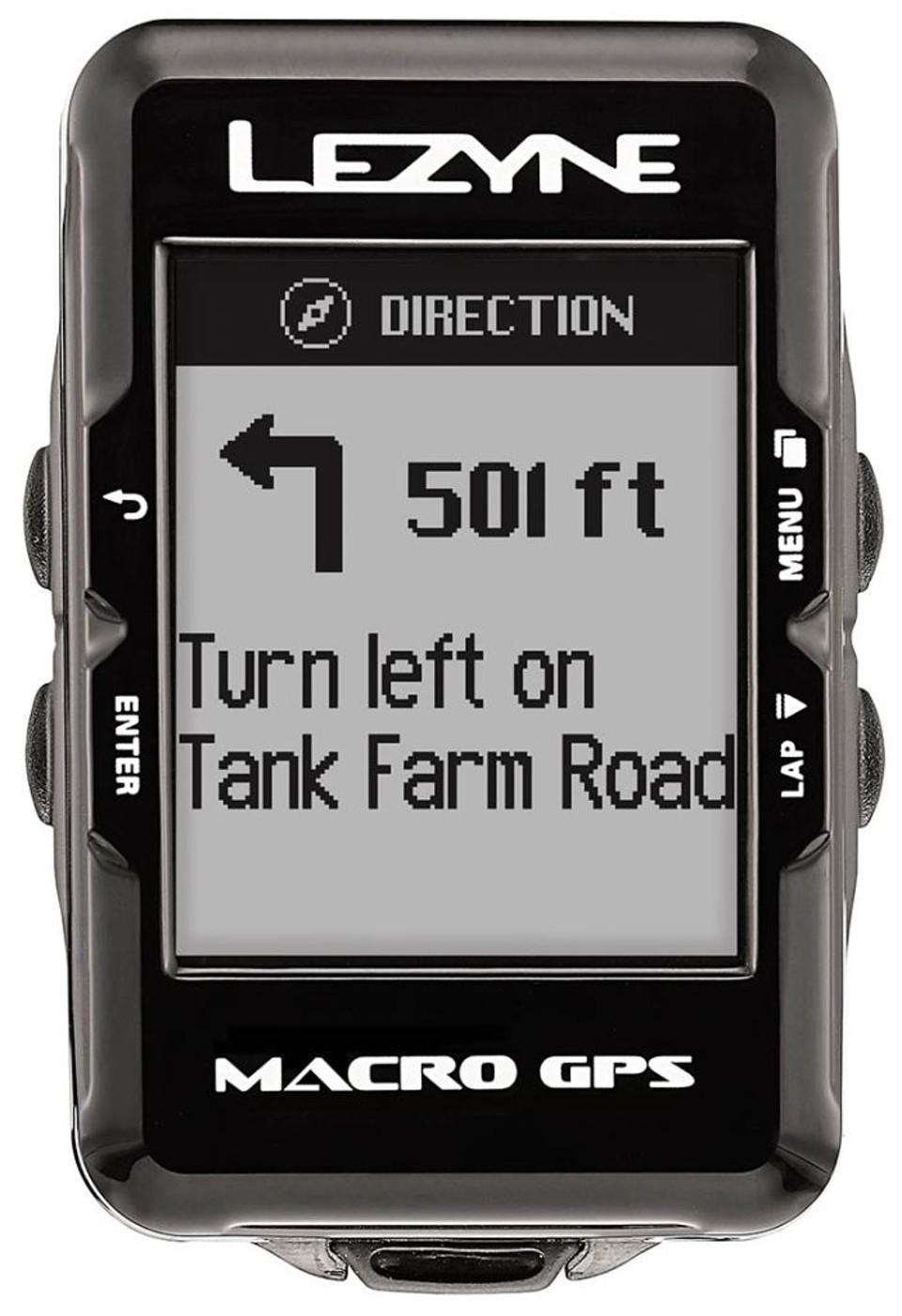 LEZYNE Radcomputer MACRO GPS HR schwarz