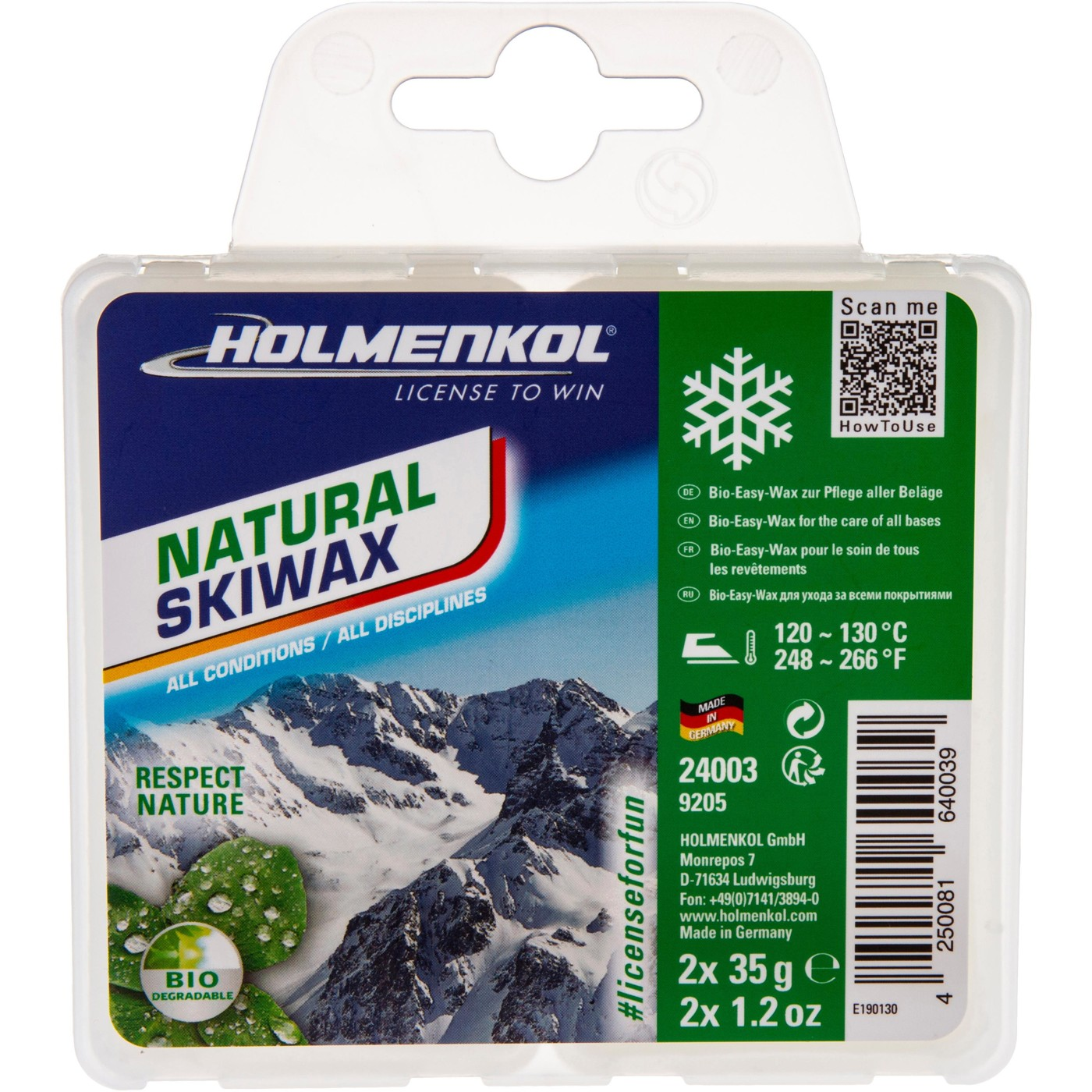HOLMENKOL Natural Skiwax 2x35g