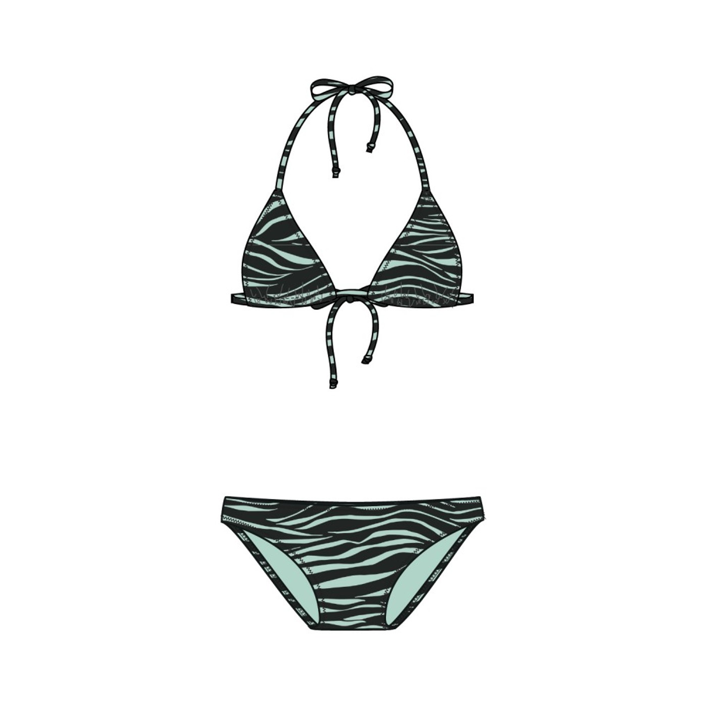 BRUNOTTI Lollypop-Zebra Womens Bikini - Damen